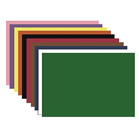 "Nature Saver Smooth Texture Construction Paper, 100% Recycled, 12"" x 18"", Assorted Colors, Pack Of 50"