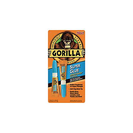 Gorilla™ Super Glue, 0.11 Oz Tubes, Pack Of 2 Tubes