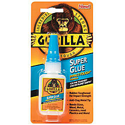 Gorilla Super Glue 053 Oz Bottle