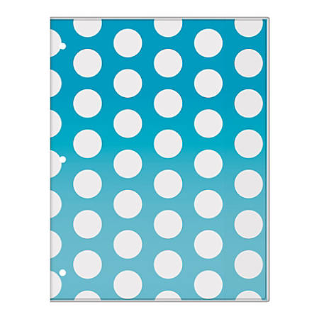 """Office Depot® Brand Monthly Academic Planner, 8 1/4"""" x 10 3/4"""", Blue Nautical Dot, July 2018 To June 2019"""