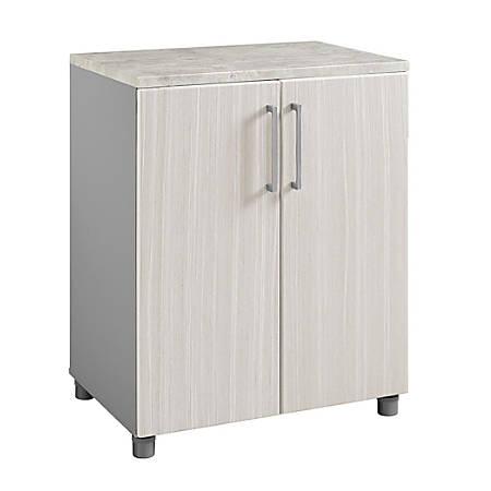 Ameriwood™ Home Latitude 2-Door Base Cabinet, 3 Shelves, Natural/Gray