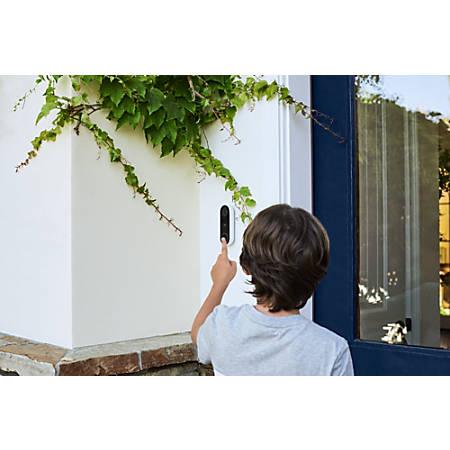 Nest Hello Smart Wi-Fi Video Doorbell, Black/White