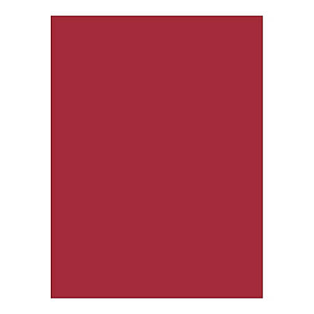 """Nature Saver Smooth Texture Construction Paper, 100% Recycled, 9"""" x 12"""", Holiday Red, Pack Of 50"""
