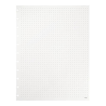 """TUL™ Custom Note-Taking System Discbound Refill Pages, 8 1/2"""" x 11"""", Letter Size, Dot Grid Format, 100 Pages (50 Sheets), White"""
