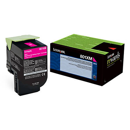 Lexmark™ 80C1XM0 High-Yield Magenta Toner Cartridge