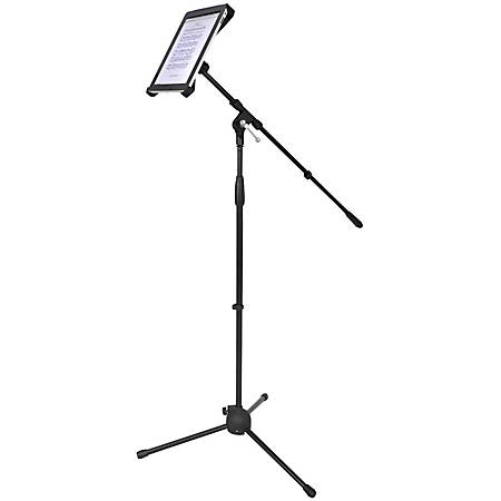 """PylePro Multimedia Microphone Stand With Adapter for iPad 2 (Adjustable for Compatibility w/iPad 1) - 6.5"""" Height x 4"""" Width"""