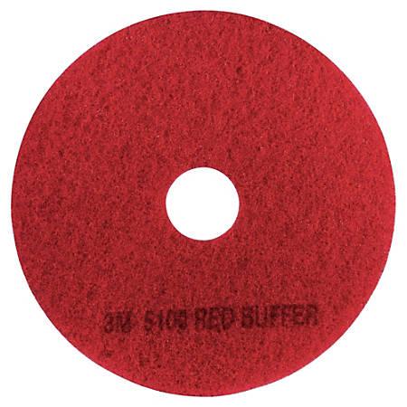 "3M™ 5100 Buffer Floor Pads, 17"" Diameter, Red, Box Of 5"