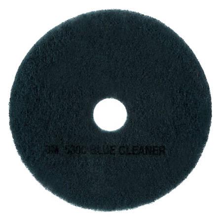 """3M™ 5300 Blue Cleaner Floor Pads, 17"""" Diameter, Blue, Pack Of 5"""