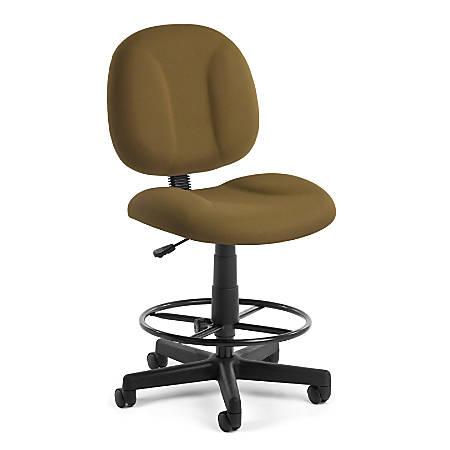 OFM Comfort Series Superchair Task Chair With Drafting Kit, Taupe/Black