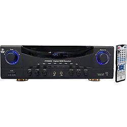 PyleHome PT590AU A/V Receiver - 350 W RMS - 5.1 Channel - Dolby Pro Logic - 300 W - AM, FM - HDMI - 4 x HDMI In - 1 x HDMI Out - USB