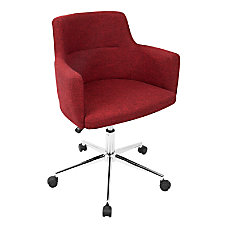 LumiSource Andrew Contemporary Adjustable Fabric Office