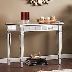Southern Enterprises Glenview Glam Mirrored Console Table
