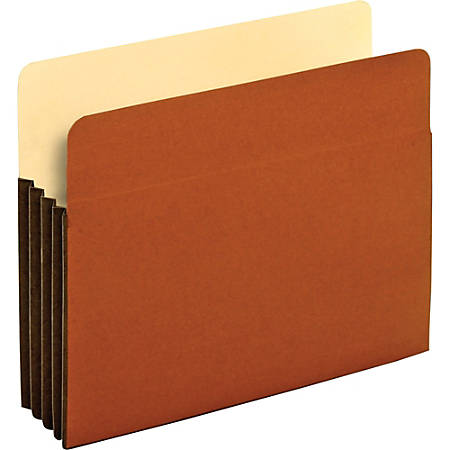 """Pendaflex® Redrope Tyvek® Top-Tab File Pockets, 3 1/2"""" Expansion, Letter Size, Brown, Box Of 10 Pockets"""