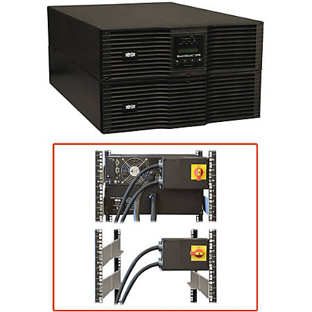 Tripp Lite UPS Smart Online 8000VA 7200W Rackmount 8kVA 208/240V 230V USB DB9 Manual Bypass Hot Swap 6URM