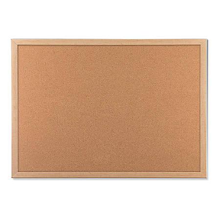 "U Brands Cork Bulletin Board, 48"" x 36"", Birch MDF Frame"