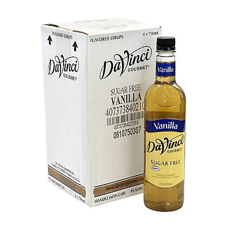 DaVinci Gourmet Syrup, Sugar-Free Vanilla, 25.36 Oz, Pack Of 4 Bottles