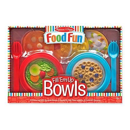 Melissa & Doug Create-A-Meal Fill 'Em Up Bowls, Pre-K - Grade 1
