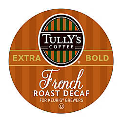 Tullys Coffee French Roast Decaffeinated Coffee