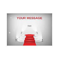 Flat Photo Greeting Card Showbiz Horizontal