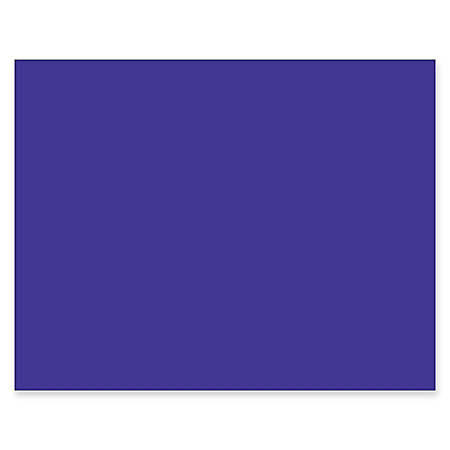 """Pacon® Peacock® 100% Recycled Railroad Board, 22"""" x 28"""", 4-Ply, Purple, Pack Of 25 Sheets"""