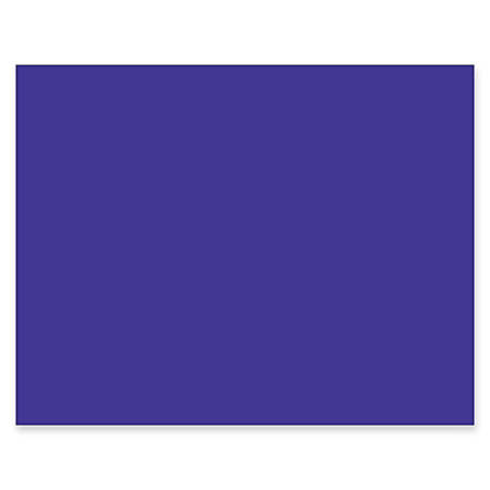 "Pacon® Peacock® 100% Recycled Railroad Board, 22"" x 28"", 4-Ply, Purple, Pack Of 25 Sheets"