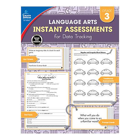 Carson-Dellosa Instant Assessments For Data Tracking Language Arts Resource Book, Grade 3