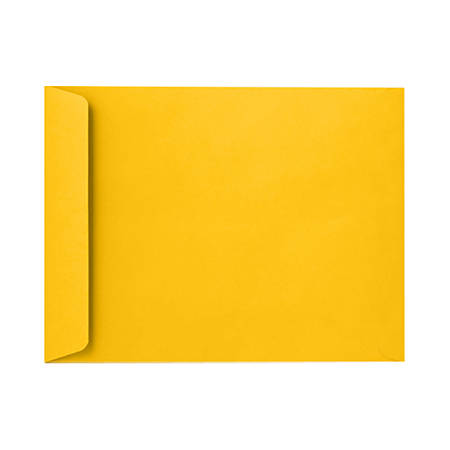 """LUX Open-End Envelopes With Peel & Press Closure, 6"""" x 9"""", Sunflower Yellow, Pack Of 500"""