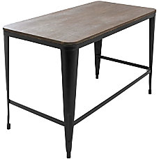 Lumisource Pia Industrial Desk EspressoBlack