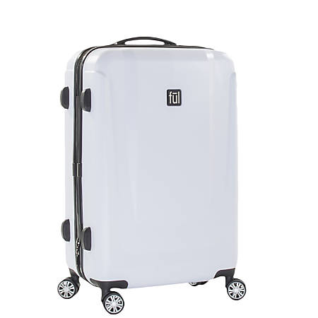 "ful Load Rider ABS Expandable Upright Rolling Suitcase, 29""H x 20 1/2""W x 11 1/2""D, White"