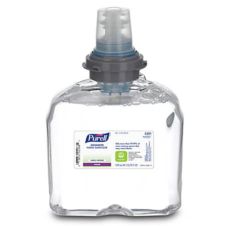 Purell® TFX™ Instant Hand Sanitizer Foam Refills, 1200ml, Carton Of 2
