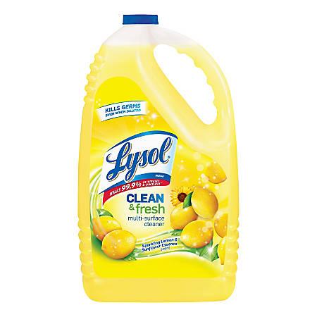 Lysol® Clean/Fresh Multi-Surface Cleaner, 144 Oz, Sparkling Lemon & Sunflower Essence Scent