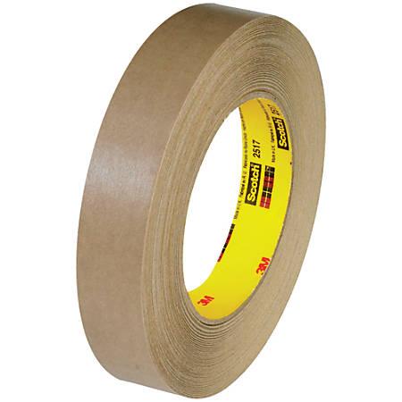 "3M™ 2517 Flatback Tape, 3"" Core, 1"" x 60 Yd., Kraft, Case Of 36"