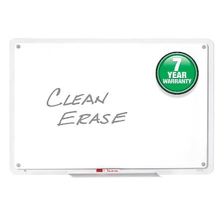 "Quartet® Total Erase iQ Frameless Dry-Erase Board, 11"" x 7"", Clear"