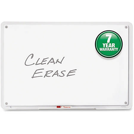 "Quartet® Total Erase iQ Frameless Dry-Erase Board, 49"" x 32"", Clear"