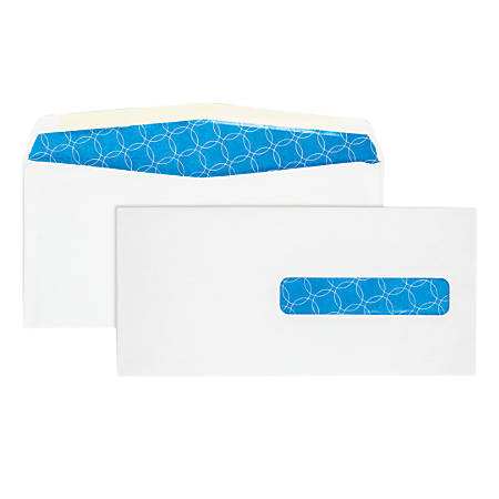 """Quality Park® Medical Claim Antimicrobial Business Window Envelopes With Self Seal, #10, 4 1/2"""" x 9 1/2"""", White, Box Of 500"""