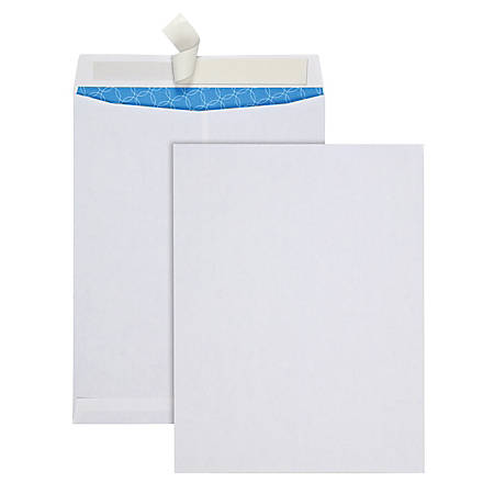 "Quality Park® Treated Catalog Envelope with Redi-Strip® Closure, 10"" x 13"", White, Box Of 100"