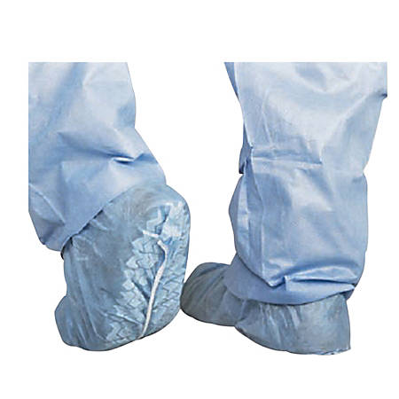 Medline Skid-Resistant Scrub Shoe Covers, Blue, Pack Of 100