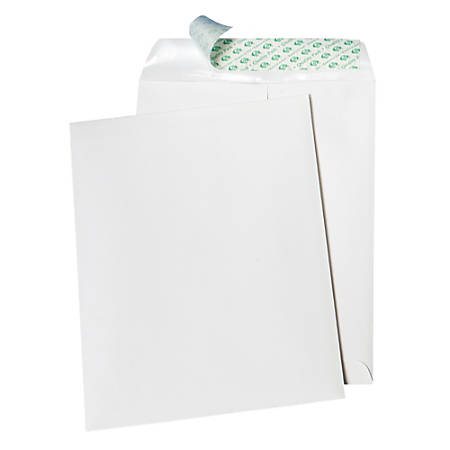 "Quality Park® Tech-No-Tear Catalog Envelopes, 9"" x 12"", White, Box Of 100"