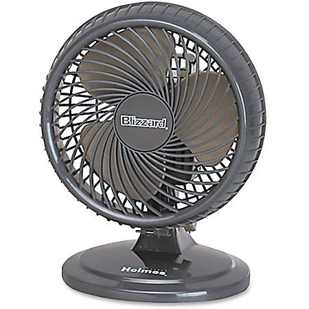 Holmes® Lil' Blizzard Oscillating Table Fan, Dark Brown