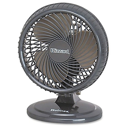 Holmes Lil Blizzard Oscillating Table Fan Dark Brown By Office Depot Officemax
