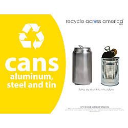 Recycle Across America Aluminum METAL 8511