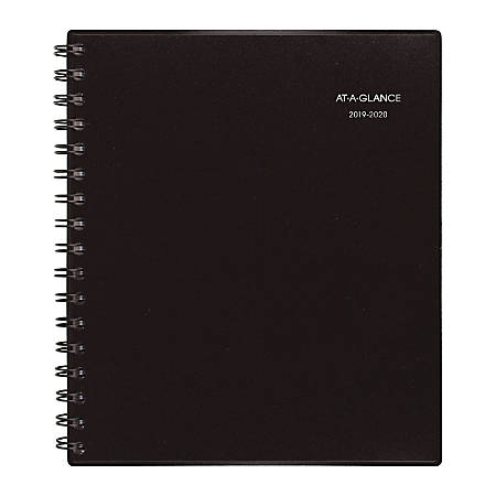 """AT-A-GLANCE® Notetaker Academic Monthly Planner, 6-7/8"""" x 8-3/4"""", Black, July 2019 to June 2020"""