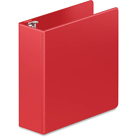 """Wilson Jones® Heavy Duty D-Ring Binder with Extra Durable Hinge, 3"""", Red - 3"""" Binder Capacity - Letter - 8 1/2"""" x 11"""" Sheet Size - 660 Sheet Capacity - D-Ring Fastener(s) - 2 Internal Pocket(s) - Polypropylene - Red - 1 / Each"""