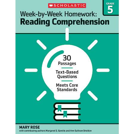 Scholastic Week-By-Week Homework: Reading Comprehension Workbook, Grade 5
