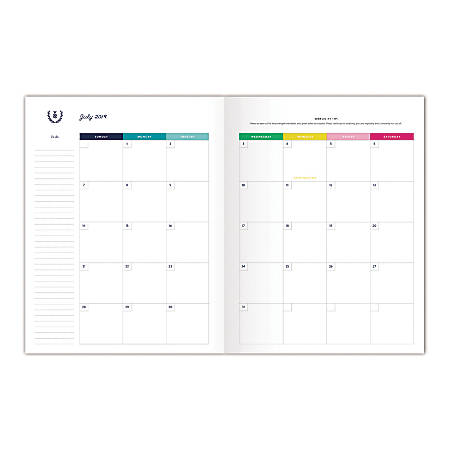 "Emily Ley for AT-A-GLANCE® Simplified Academic Monthly Planner, 11"" x 8-1/2"", Pineapple, July 2019 to June 2020"