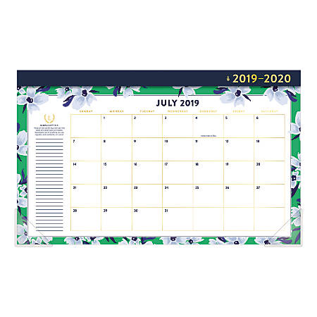 AT-A-GLANCE® Simplified by Emily Ley Compact Monthly Desk Pad Calendar,  17-3/4