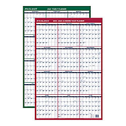 At A Glance Reversible Erasable Academicregular Year Wall