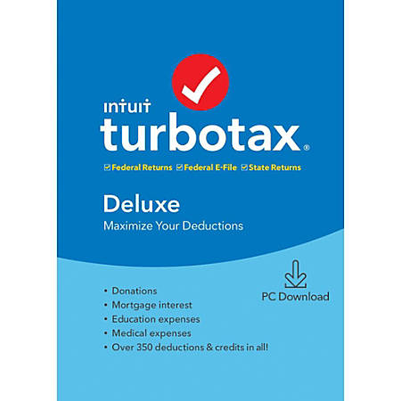 TurboTax® 2019, Deluxe Federal + State Efile, Download