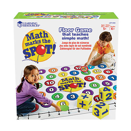Learning Resources® Math Marks The Spot™ Game, Ages 5-10