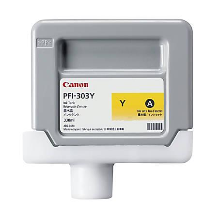 Canon PFI-303Y Yellow Ink Cartridge (2961B001AA)